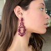 Vienna Red Enameled Earrings - Ruby