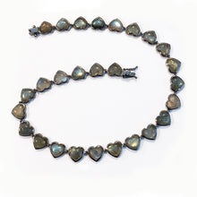 Medium Heart Riviere Necklace - Labradorite