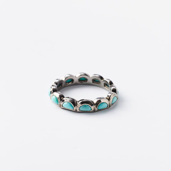 Mini Scallop Band Ring - Turquoise