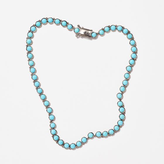 Mini Dot Riviere Necklace - Turquoise