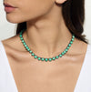 Small Dot Riviere Necklace - Chrysoprase