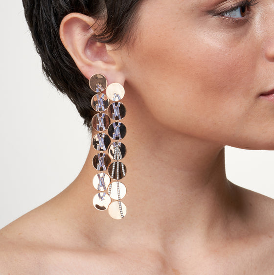 Tassel Earrings - Tanzanite