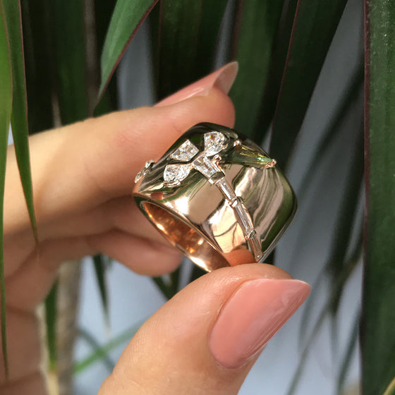 Wrapped Crocus Ring