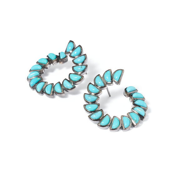 Marabou Bypass Hoops - Turquoise