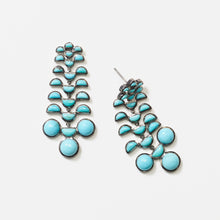 Reptile Girandole Earrings - Turquoise