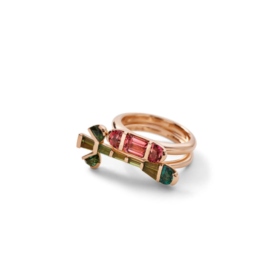 Crocus Ring - Green Tourmaline