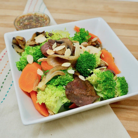 Beef & Broccoli Almondine