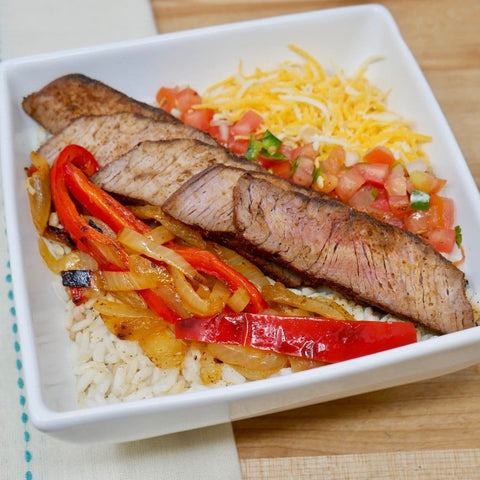 Beef Fajita Rice Bowl