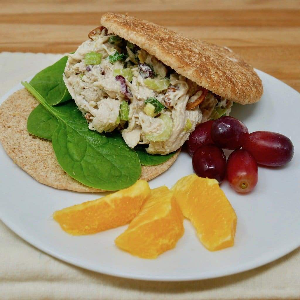 Shredded Chicken Cranberry Salad Sandwich