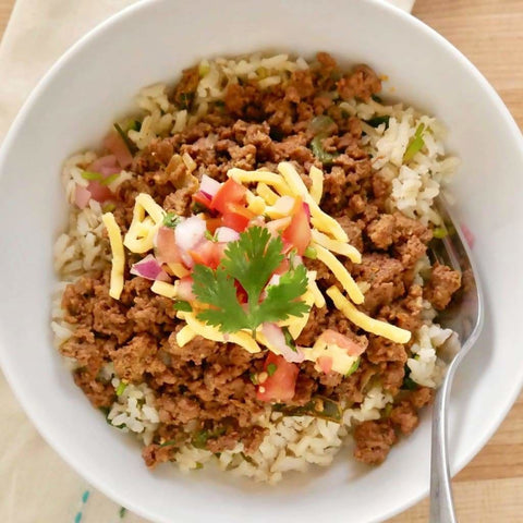 Chipotle Beef Over Cilantro Lime Brown Rice