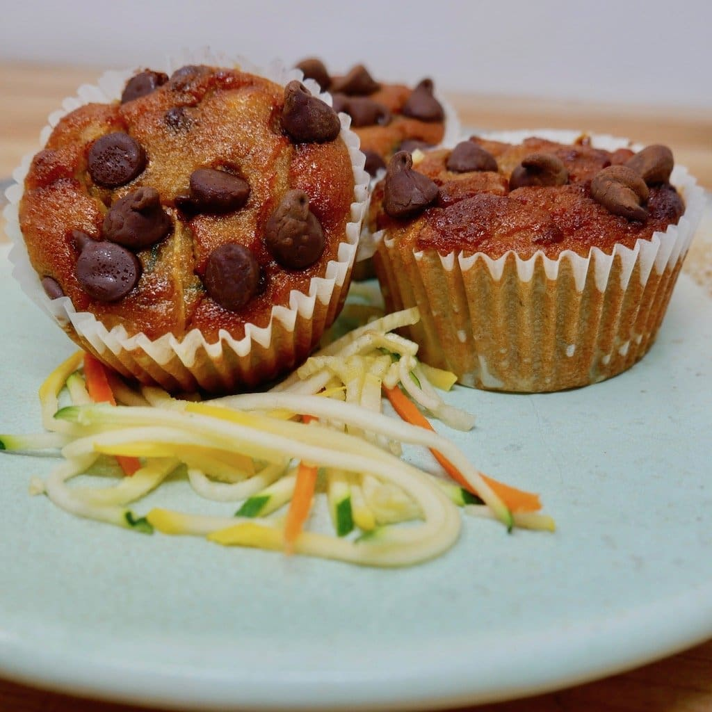 Chocolate Pecan & Zucchini Muffin