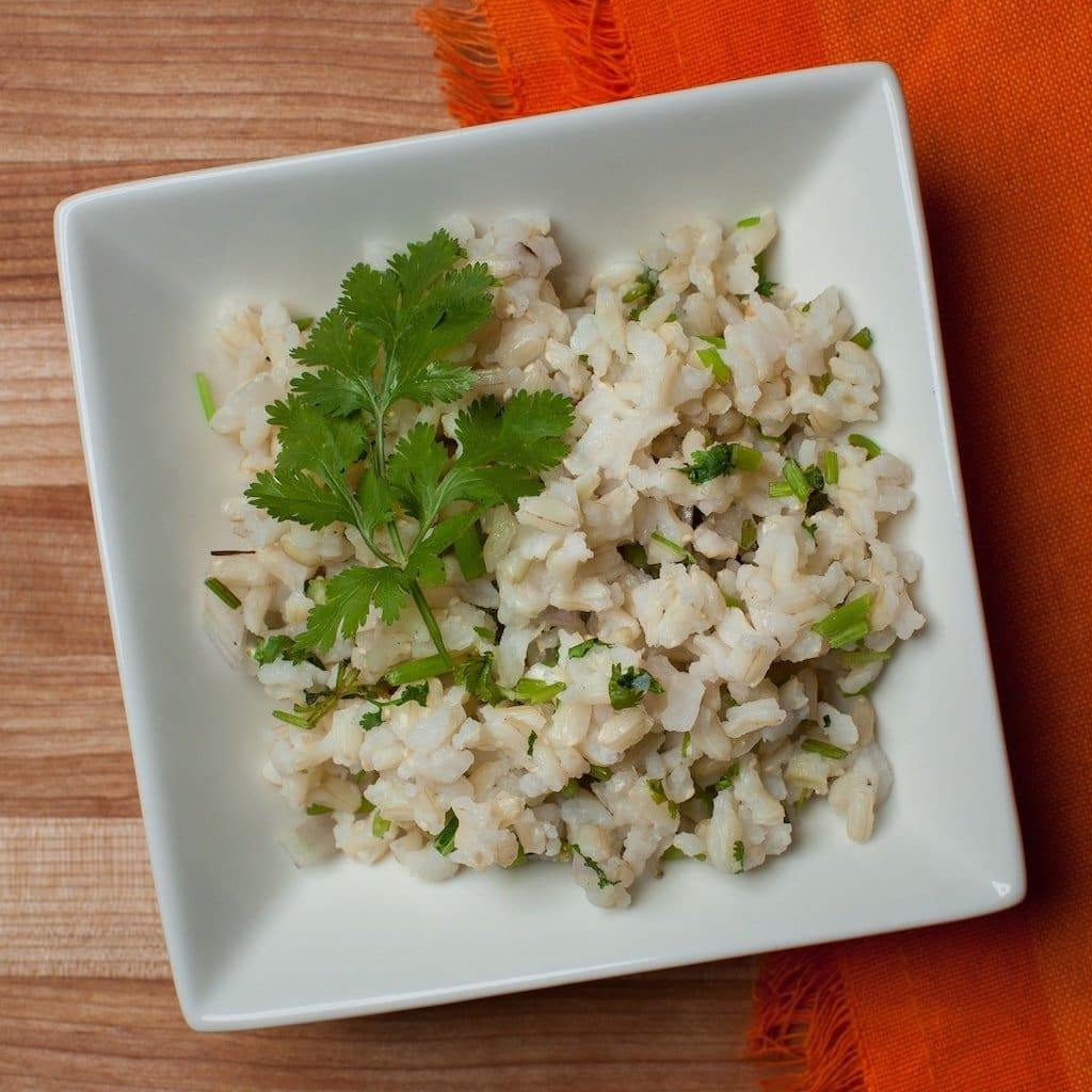 Cilantro-Lime Brown Rice Side