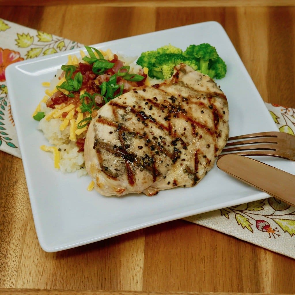 Grilled Chicken Over Loaded Cauliflower Mash