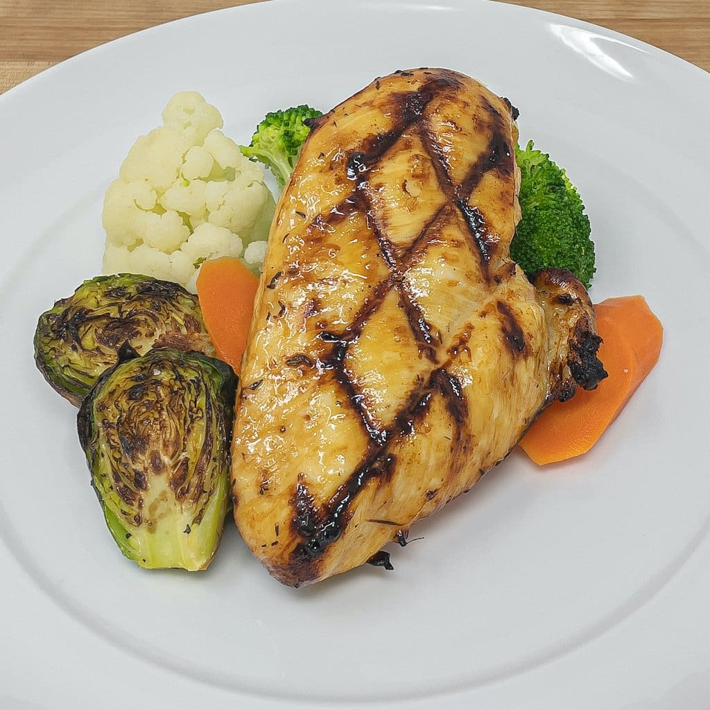 Keto Lemon Herb Chicken with Steamed Veggies