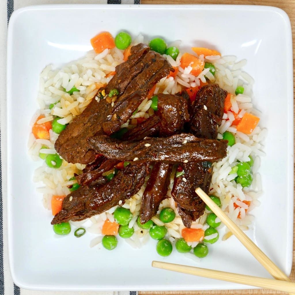 Korean Vegan Beef Bbq