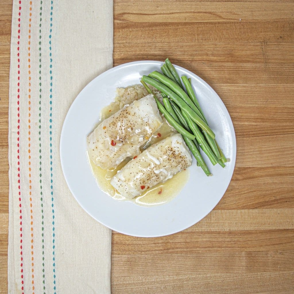 Lemon Garlic Cod