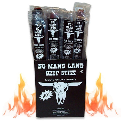 No Mans Land Beef Stick  Hot