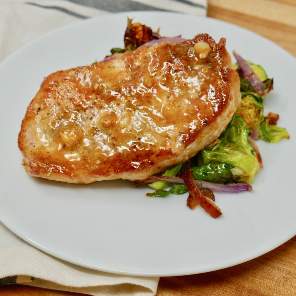 Orange Chipotle Glazed Pork Chop