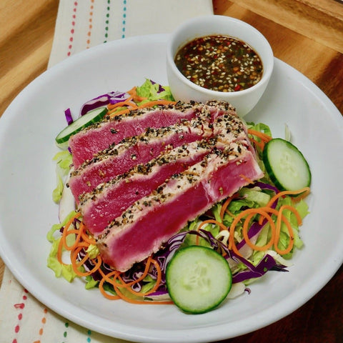 Pepper Crusted Ahi Tuna Salad