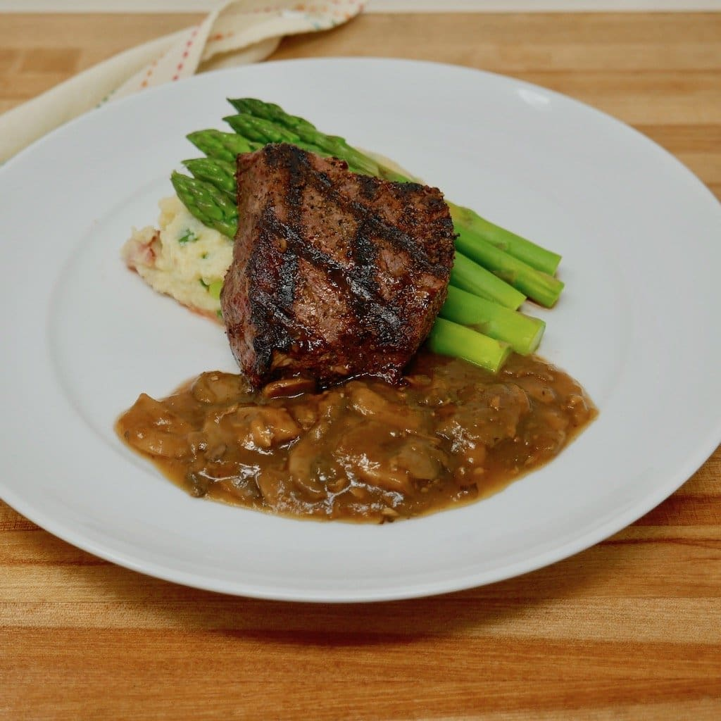 Sirloin Steak with Madeira Sauce