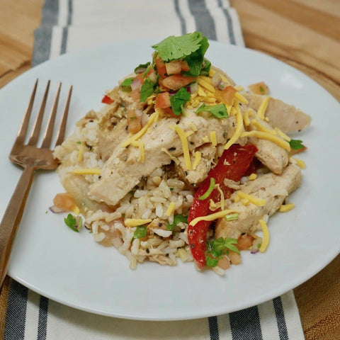 Tex-Mex Chicken Fajita Rice Bowl