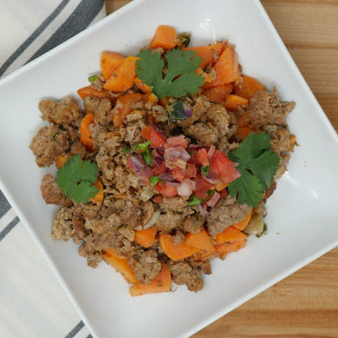 Tex-Mex Ground Turkey Sweet Potato Picadillo
