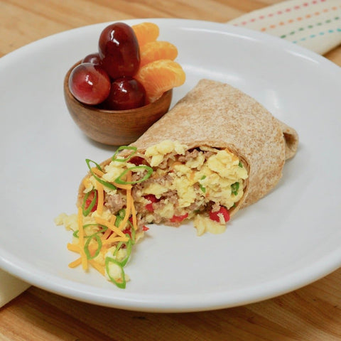 Turkey Sausage Breakfast Wrap