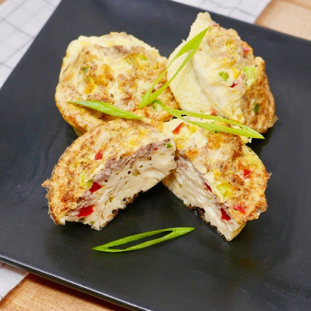Turkey Sausage & Cheese Frittata Bites