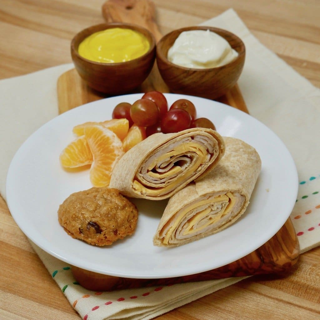 Whole Wheat Turkey And Cheese Wrap Bento Box