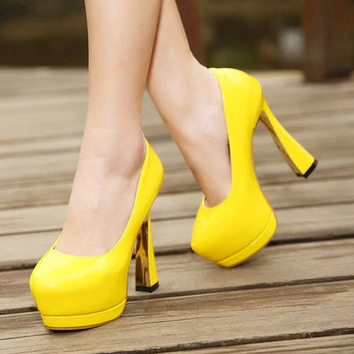 Thick Heels Waterproof Spring Shoes