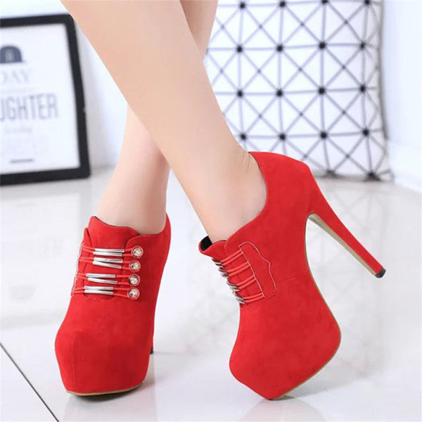 Sexy Red Bottom Platform Heels