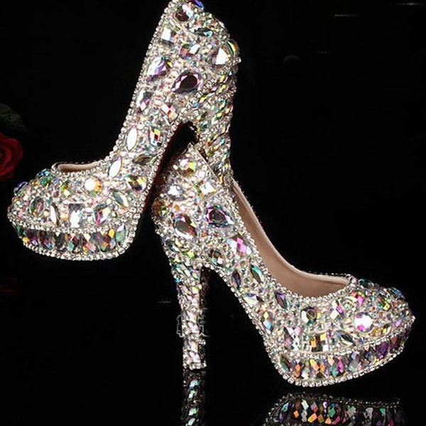 Crystal Rhinestone Shiny High Heels