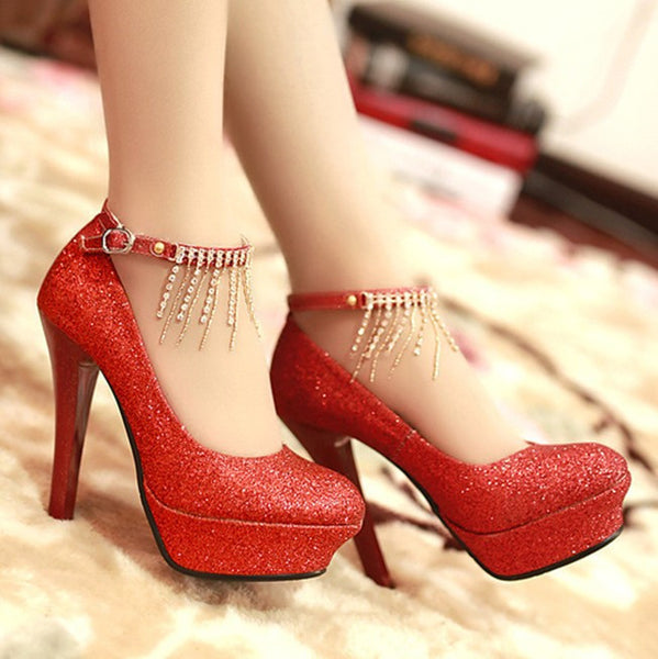 Diamond Wedding Heels