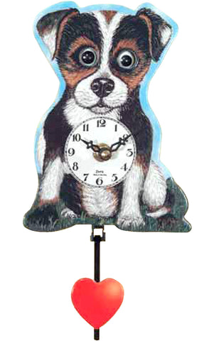 Small Battery-Operated Puppy Dog Clock