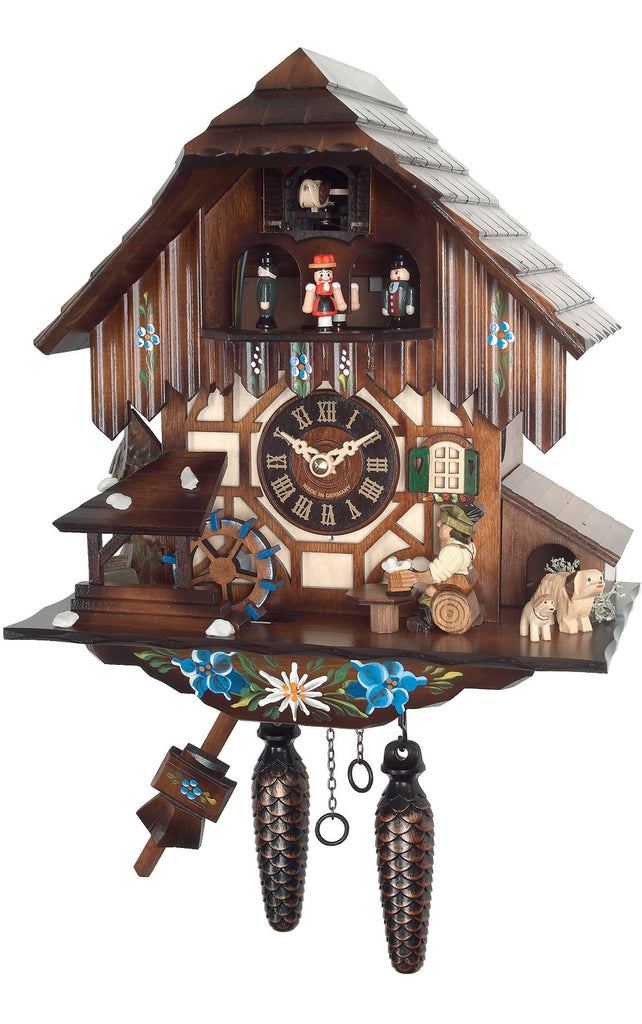 Large 1-Day Mechanical Musical Beer Drinker Cuckoo Clock