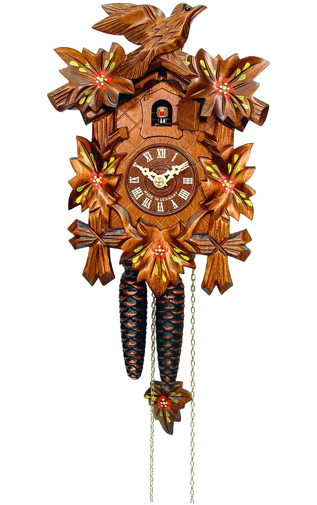 Medium 1-Day Mechanical Carved Bird Cuckoo Clock