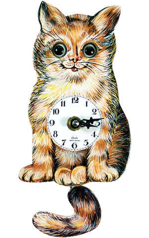 Small Battery-Operated Cat Clock
