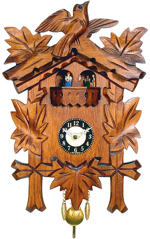 Small Battery-Operated Carved Bird Cuckoo Clock