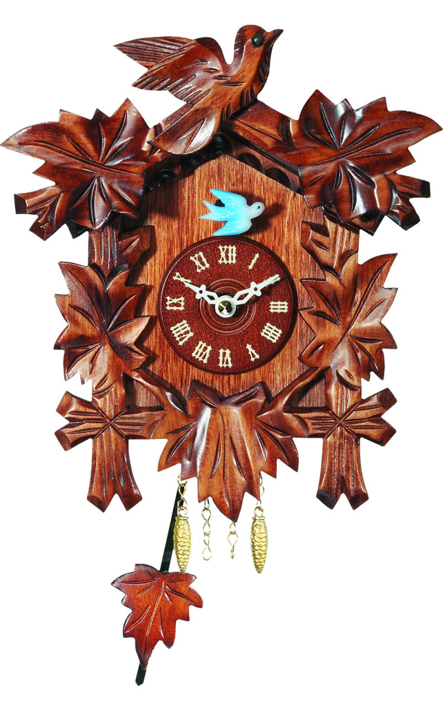 Small Battery-Operated Carved Bird Clock
