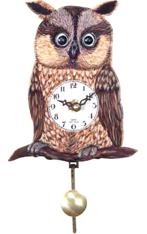 Small Battery-Operated Owl Clock