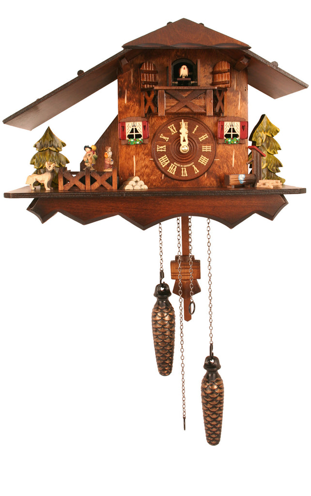 Large Battery-Operated Chalet with Dancers Musical Cuckoo Clock