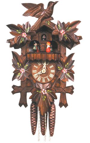 Large 1-Day Mechanical Traditional Carved Bird Cuckoo Clock