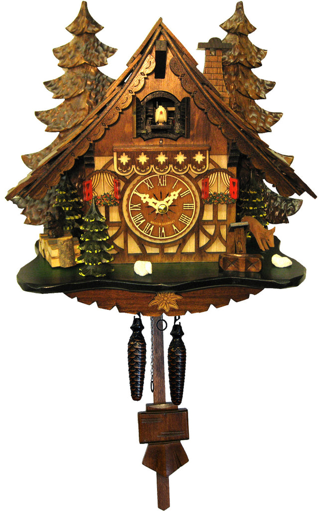 Large Battery-Operated Chalet in the Trees Cuckoo Clock [No Music]
