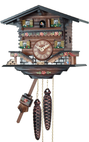 Large Battery-Operated Chalet Musical Cuckoo Clock