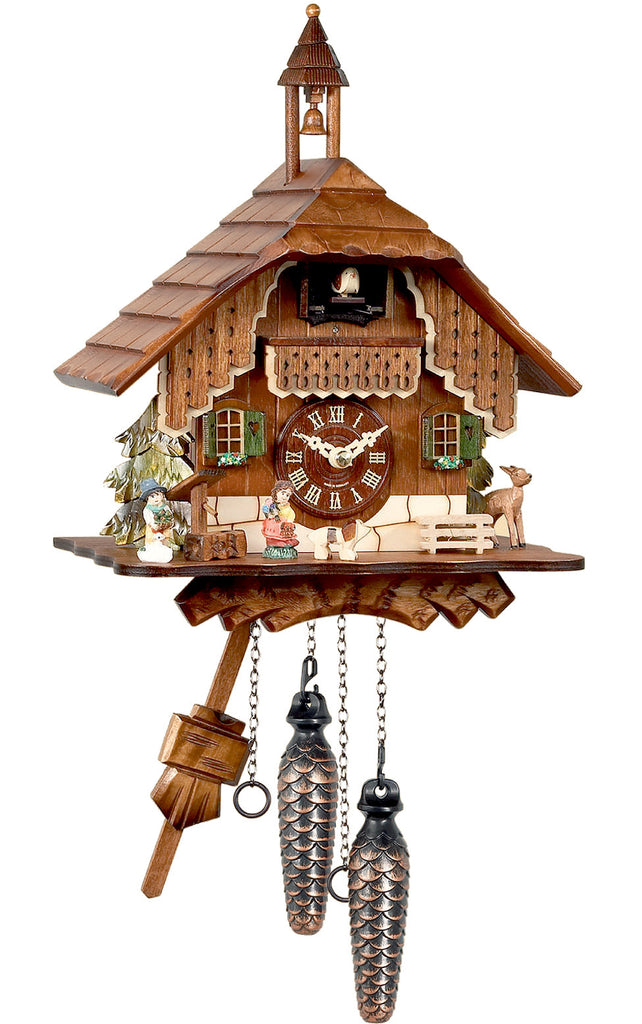 Large Battery-Operated Chalet with Bell-tower Cuckoo Clock [No Music]