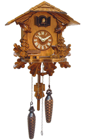 Large Battery-Operated Carved Chalet Musical Cuckoo Clock