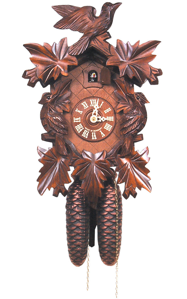 Large 8-Day Mechanical Traditional Carved Bird Cuckoo Clock