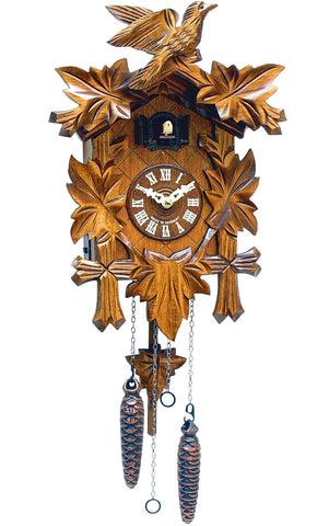Large Battery-Operated Carved Bird Cuckoo Clock