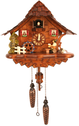 Large Battery-Operated Beer Drinker Cuckoo Clock