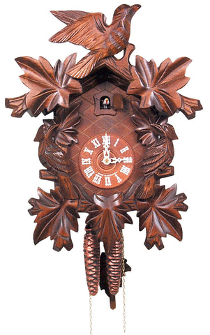 Large 1-Day Mechanical Carved Bird Cuckoo Clock